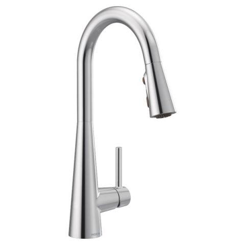 Moen 7864 Sleek Chrome One-Handle Pulldown Kitchen Faucet
